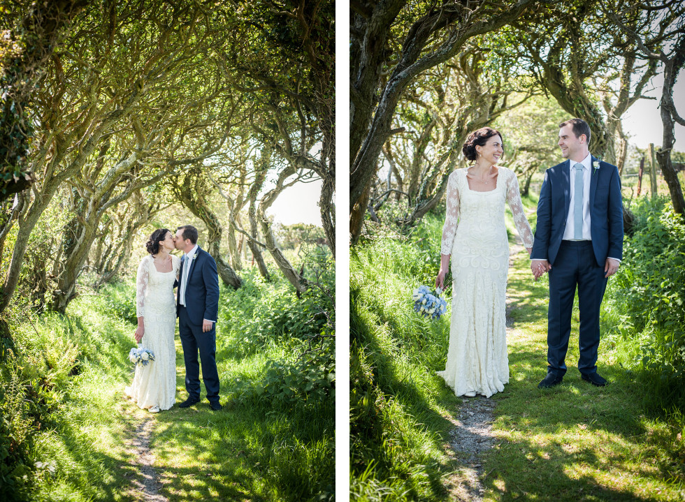 Emma & Tom wedding Rhossili village hall Swansea duo 10