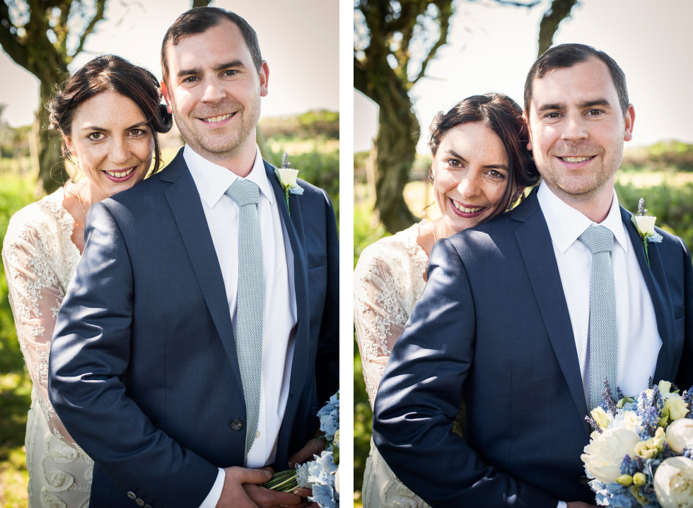 Emma & Tom wedding Rhossili village hall Swansea duo 9
