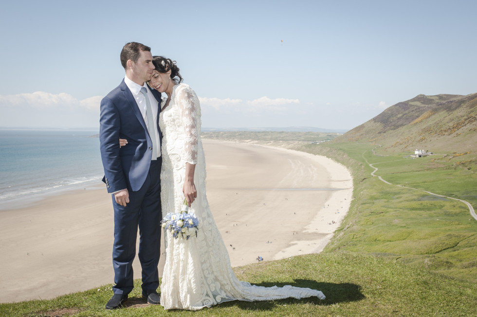 Emma & Tom wedding Rhossili village hall swansea-36