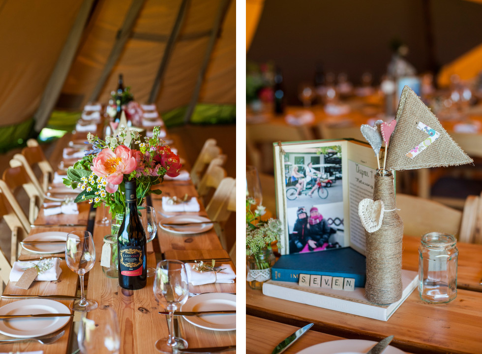 Kirsty & Adrian celtic camping tipi wedding duo 19