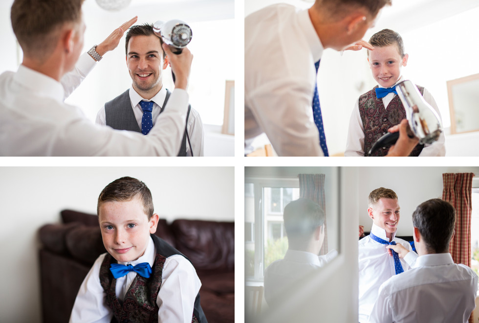 Nicola & Elliot Tregenna Castle St Ives wedding collage 1