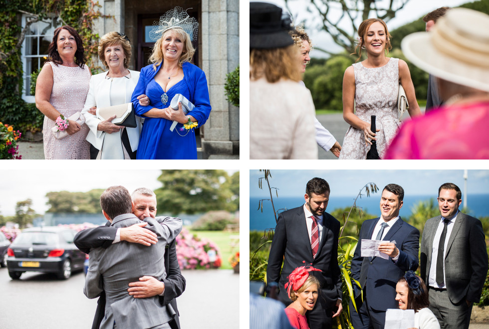 Nicola & Elliot Tregenna Castle St Ives wedding collage 2