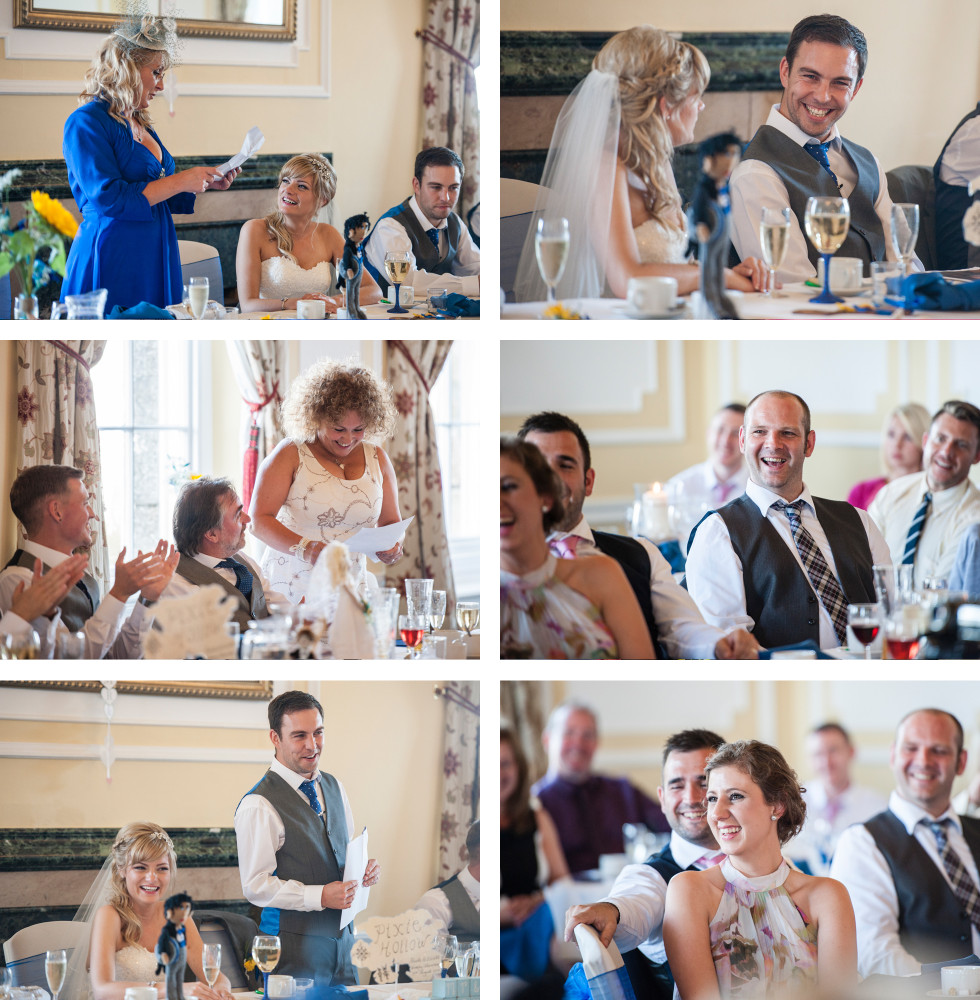Nicola & Elliot Tregenna Castle St Ives wedding collage 3