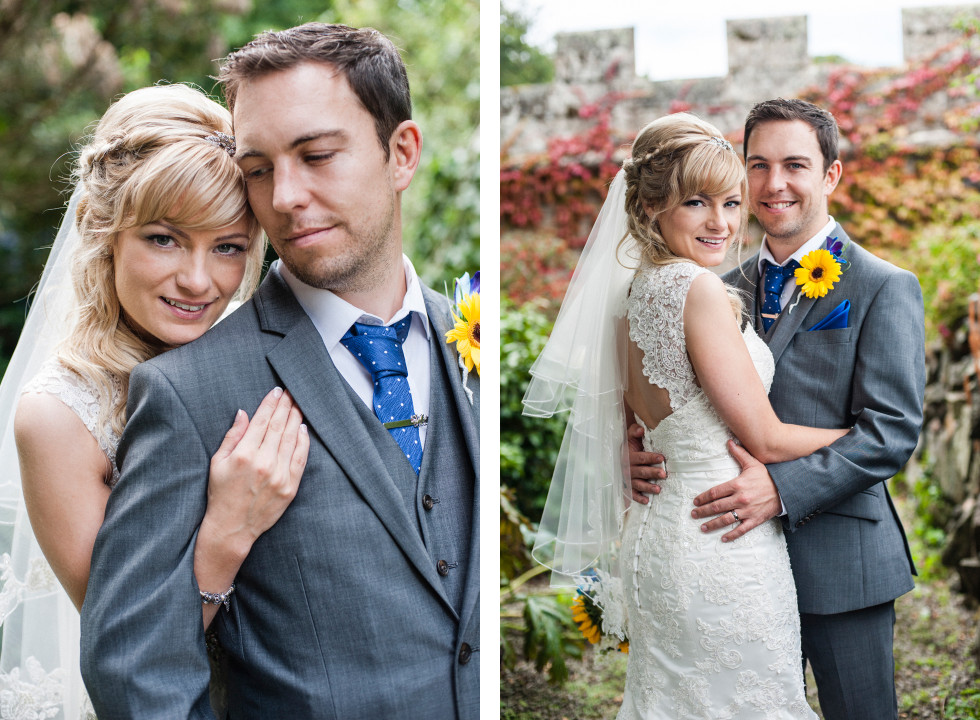 Nicola & Elliot Tregenna Castle St Ives wedding duo 10