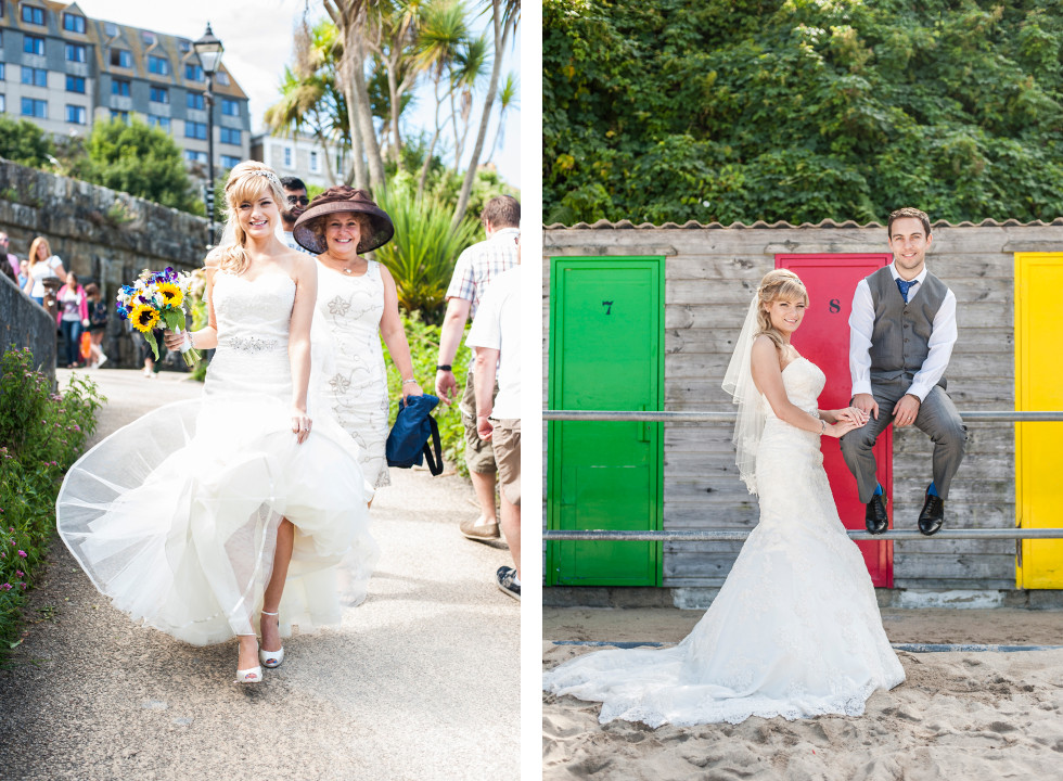 Nicola & Elliot Tregenna Castle St Ives wedding duo 12