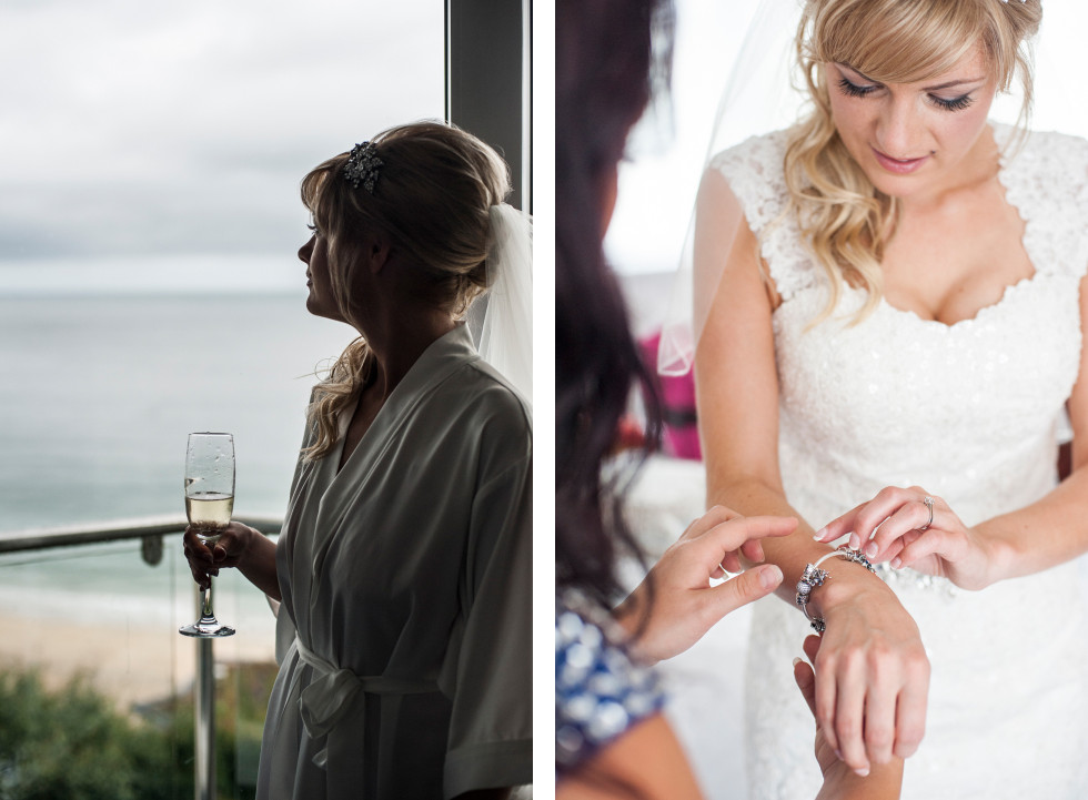 Nicola & Elliot Tregenna Castle St Ives wedding duo 2