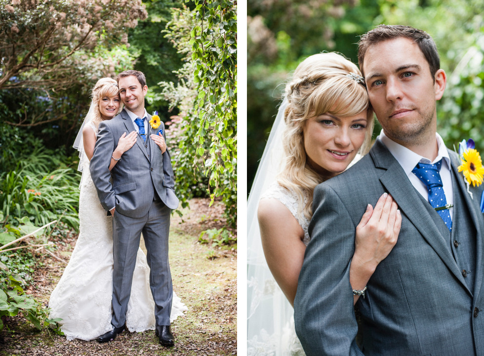 Nicola & Elliot Tregenna Castle St Ives wedding duo 9