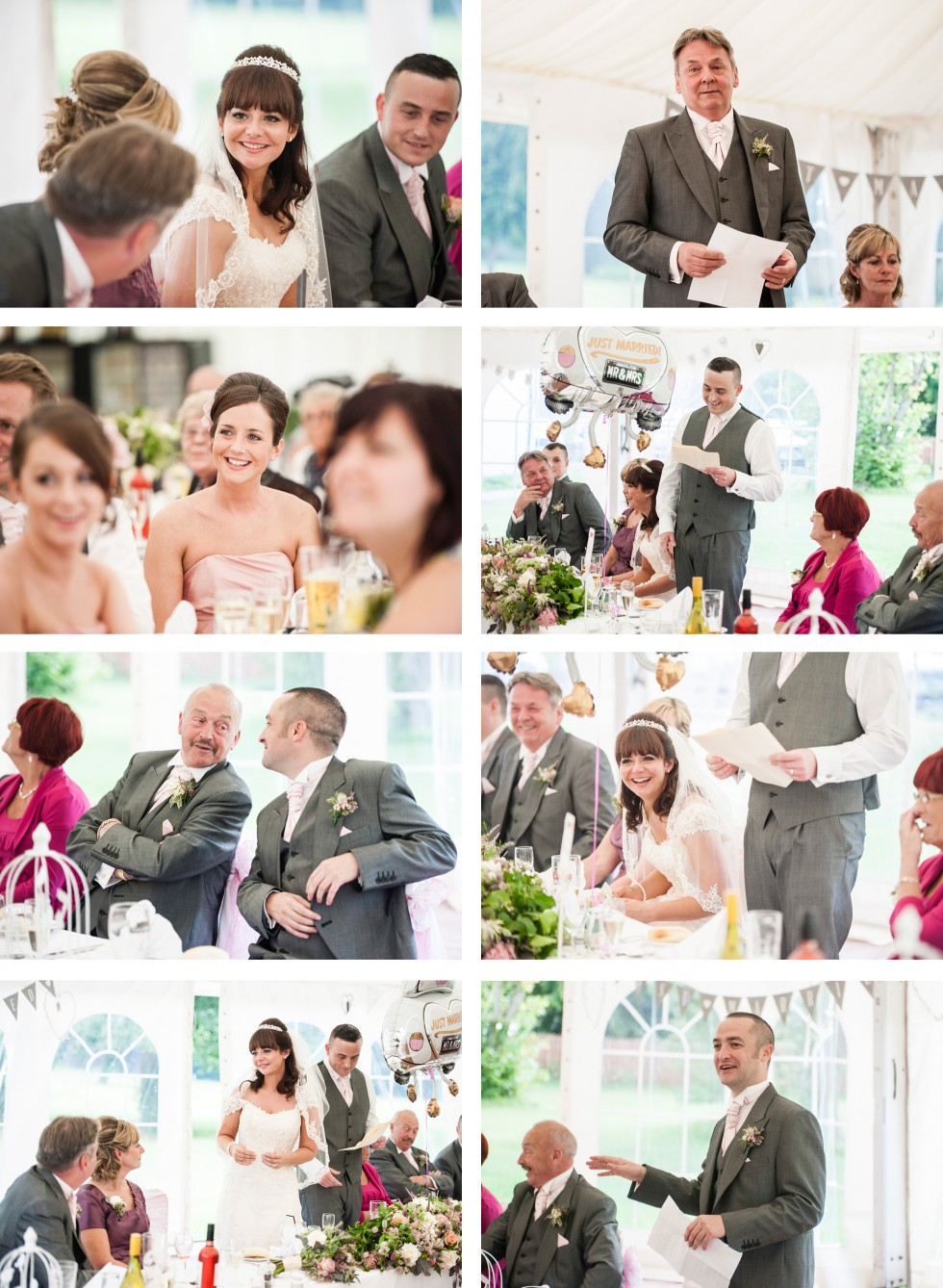 Becky & Jay wedding Old Rectory Crickhowell collage 1