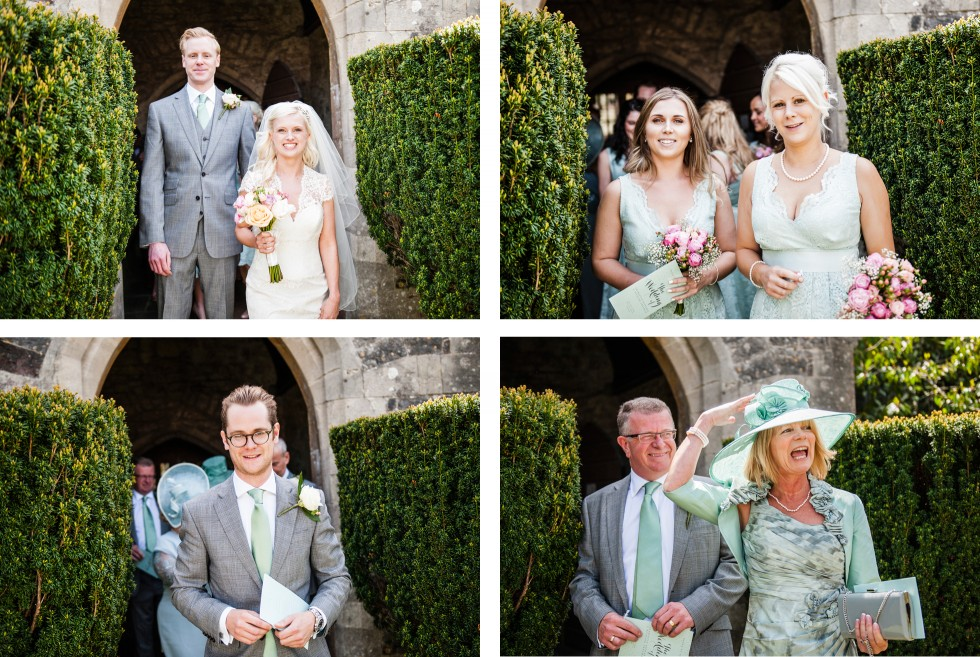 Charlotte & Richard Fonmon Castle wedding collage 3