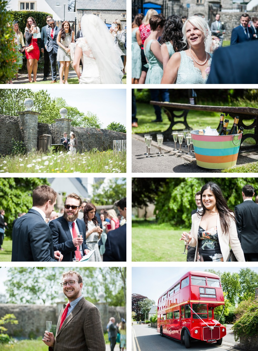 Charlotte & Richard Fonmon Castle wedding collage 4
