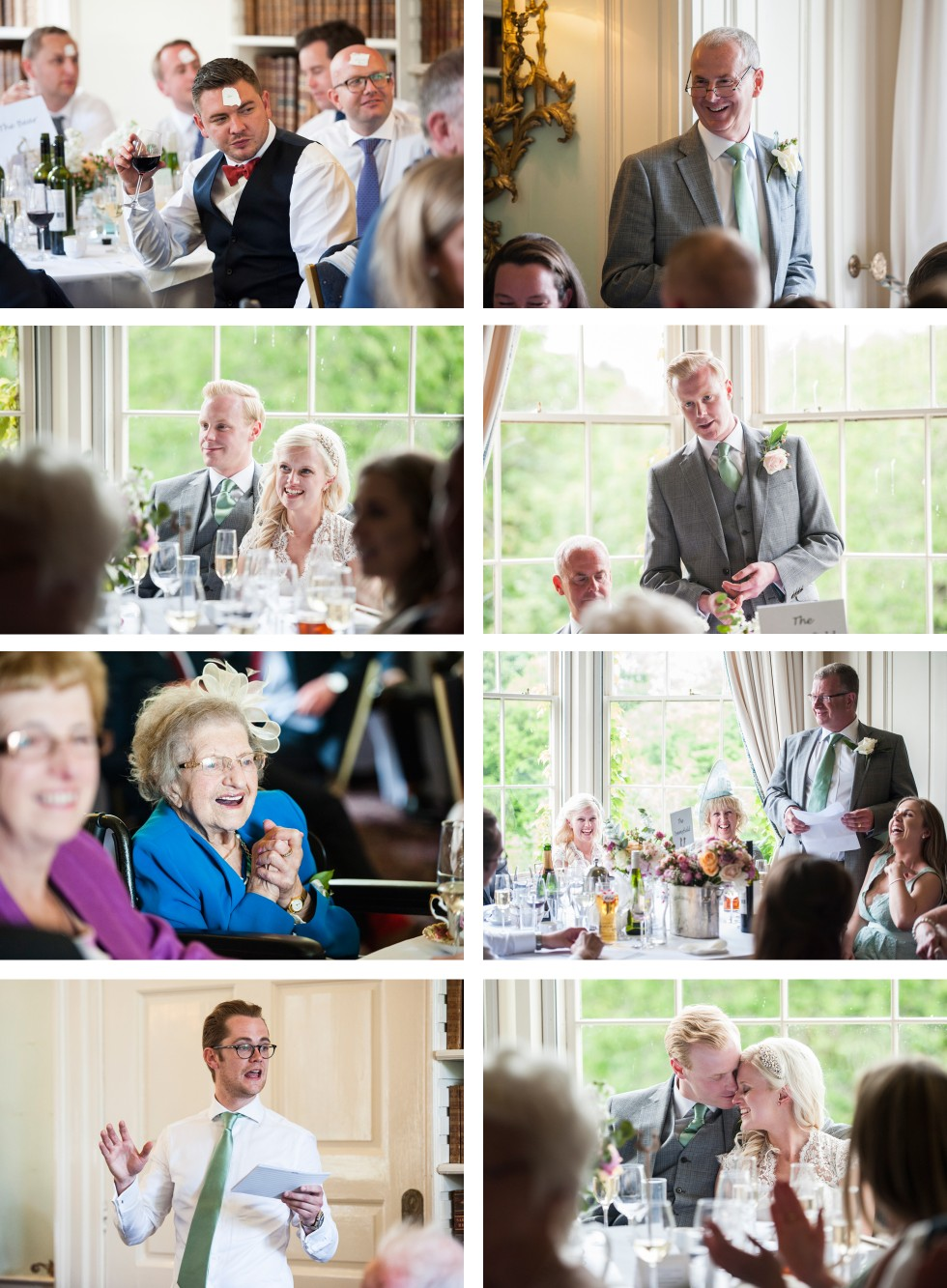 Charlotte & Richard Fonmon Castle wedding collage 5