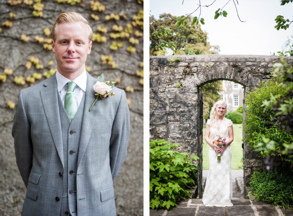Charlotte & Richard Fonmon Castle wedding duo 10