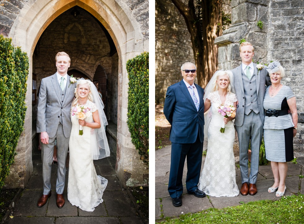Charlotte & Richard Fonmon Castle wedding duo 7