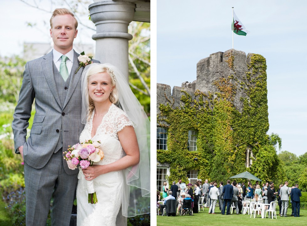 Charlotte & Richard Fonmon Castle wedding duo 9