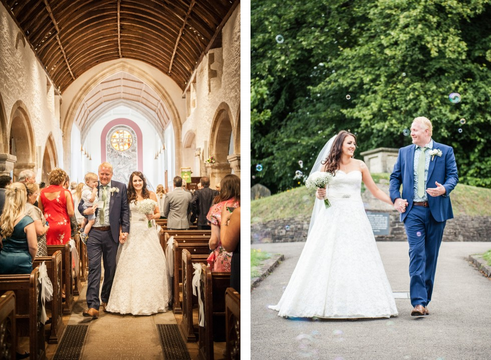 Tracey & Neil wedding St Woolos Cathedral Newport duo 5