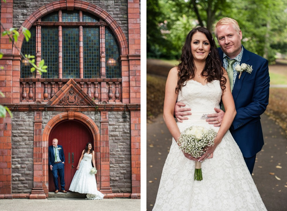 Tracey & Neil wedding St Woolos Cathedral Newport duo 6