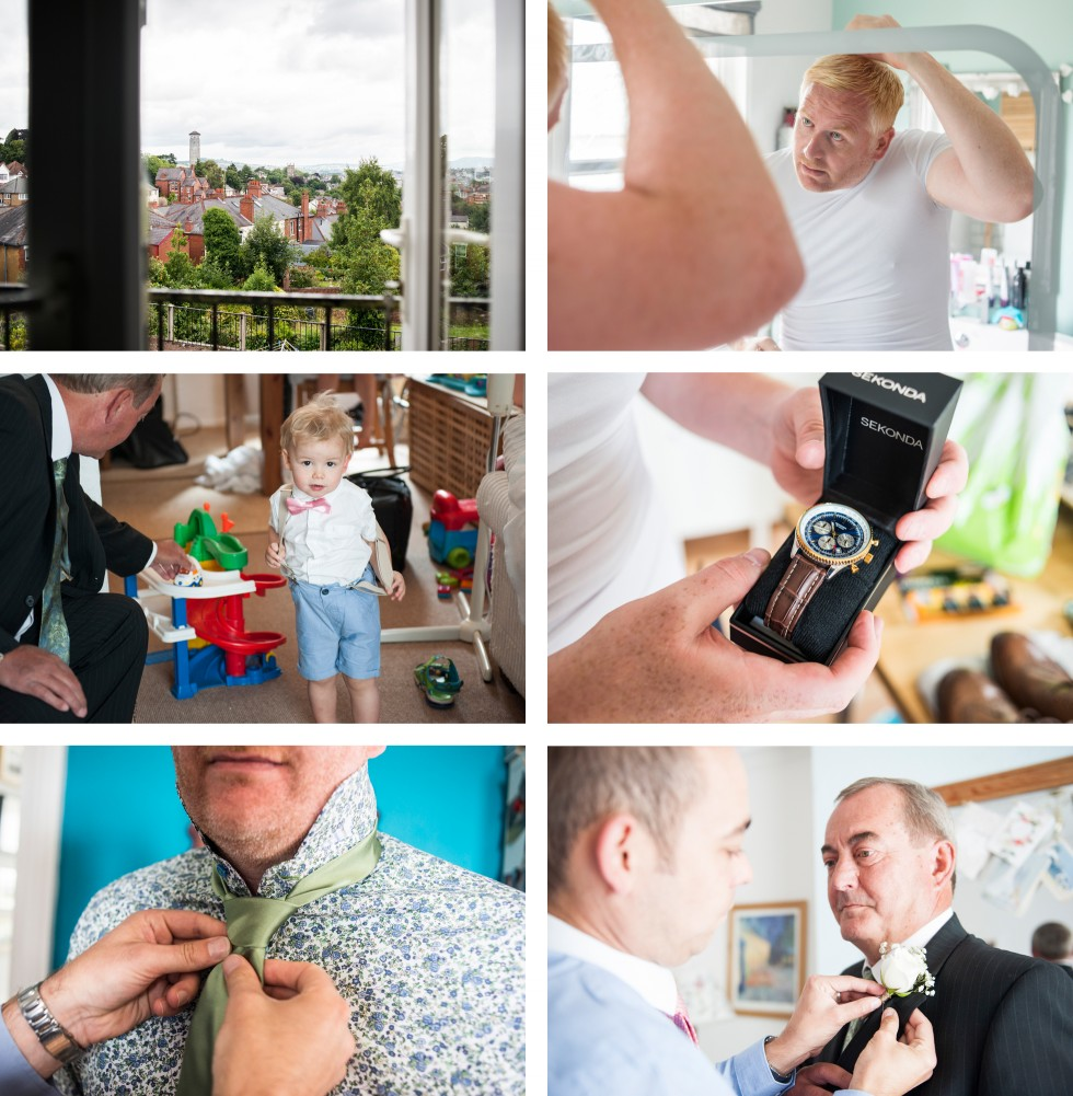 Tracey & Neil wedding St Woolos Cathedral collage 1