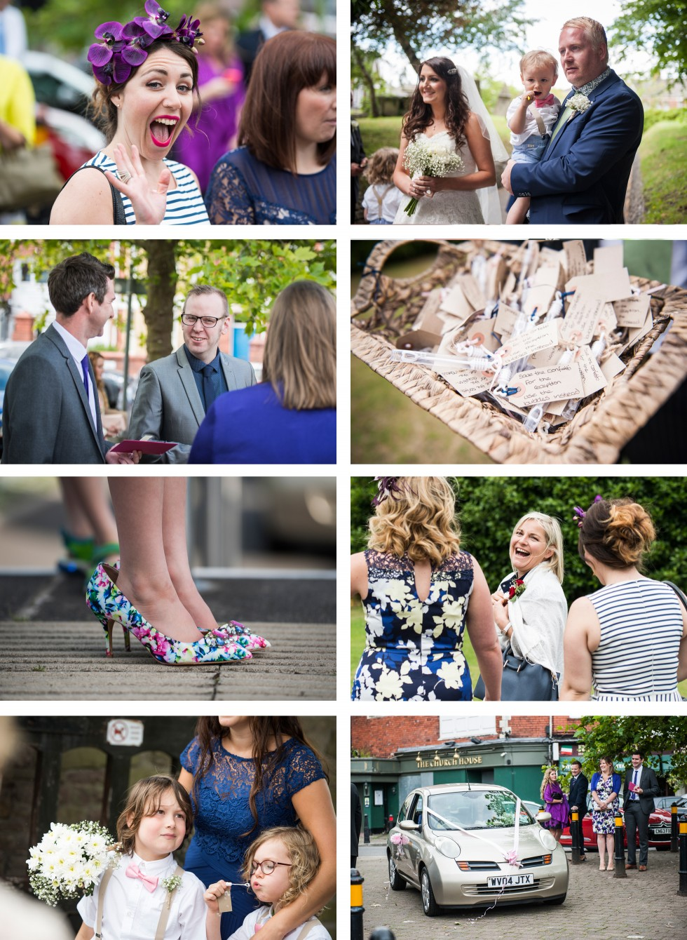 Tracey & Neil wedding St Woolos Cathedral collage 2